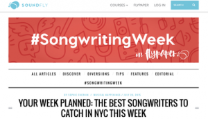 SOUNDFLY #Songwriting Week (July 20th, 2015)
