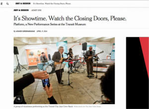 """""""New York Times"""" April 17th, 2014 Issue"""